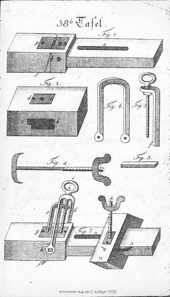 Buettnerlehre Tafel 38, Fig. 1 - 7 (2. Auflage)