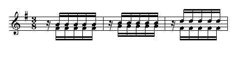 Ostertriumph Motiv 2. Geige