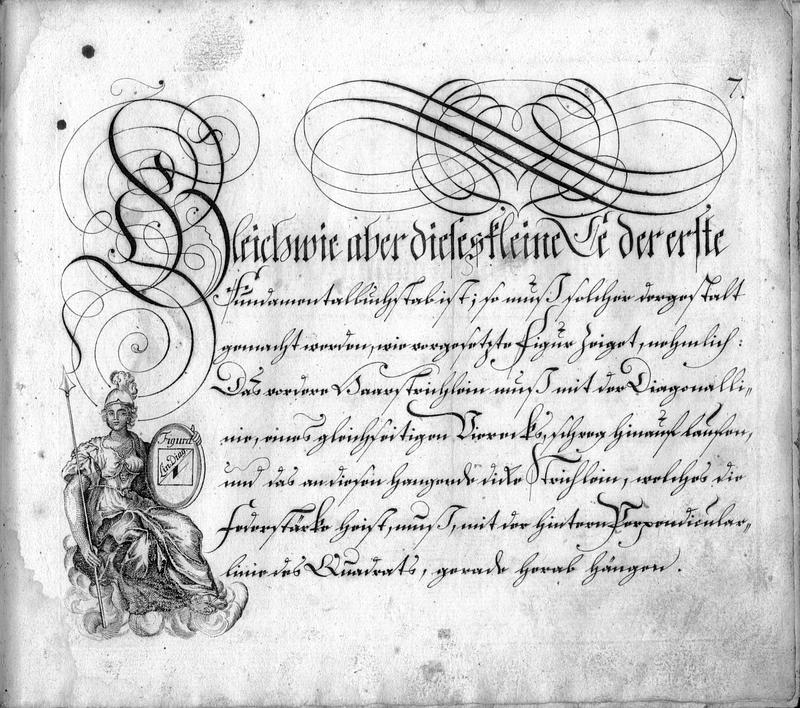 Calligraphia S. 7