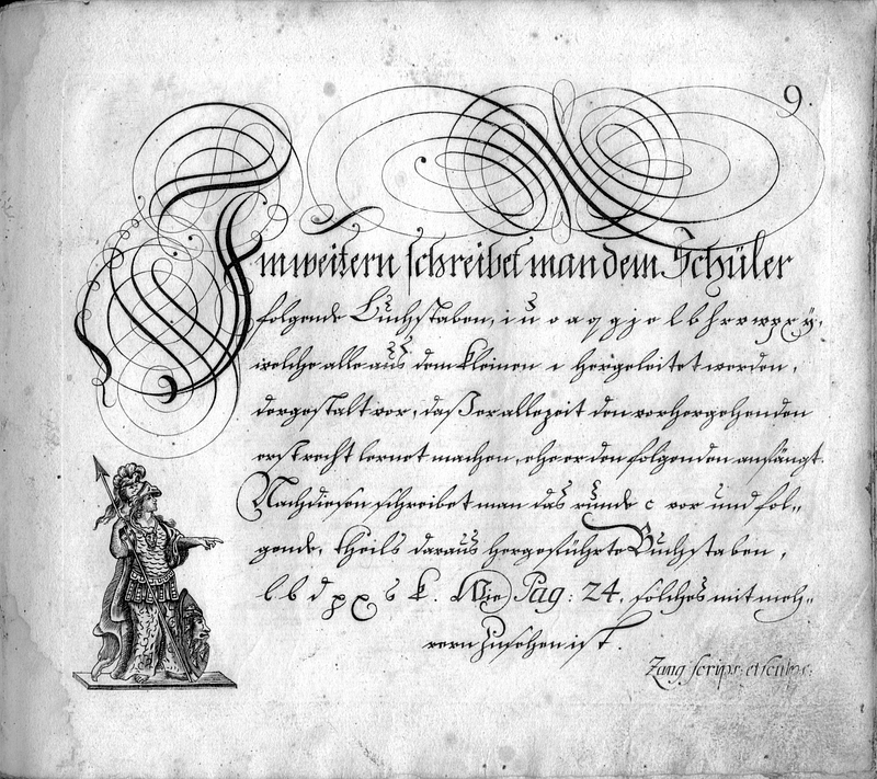 Calligraphia S. 9