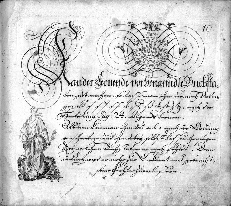 Calligraphia S. 10