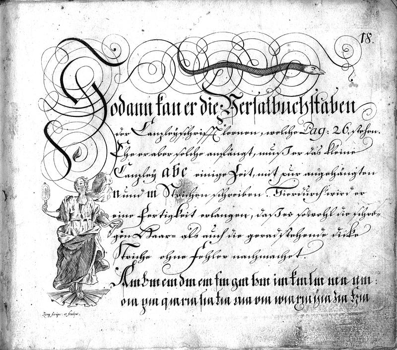 Calligraphia S. 18