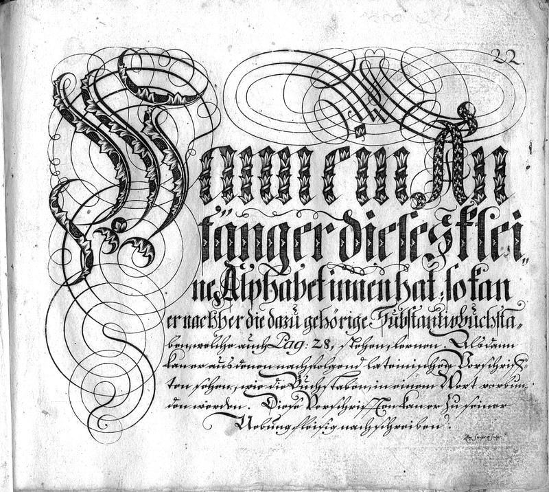 Calligraphia S. 22