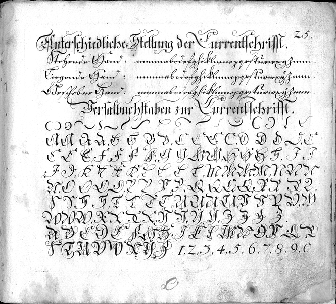 Calligraphia S. 25