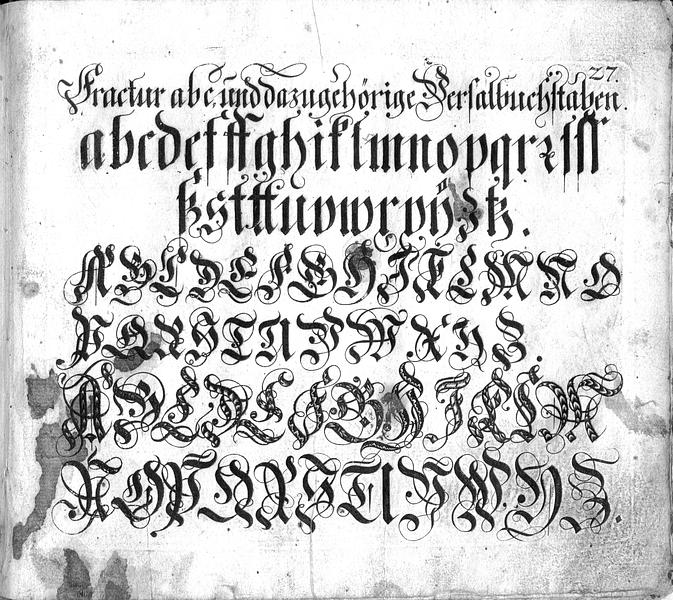 Calligraphia S. 27