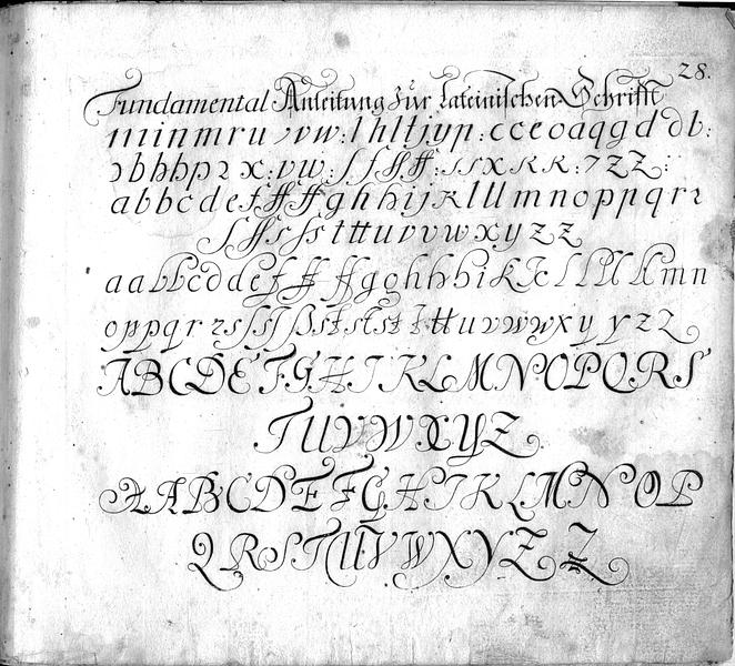 Calligraphia S. 28