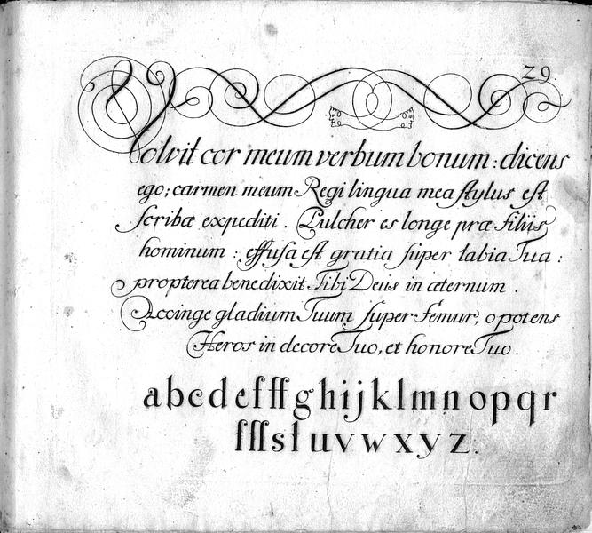 Calligraphia S. 29