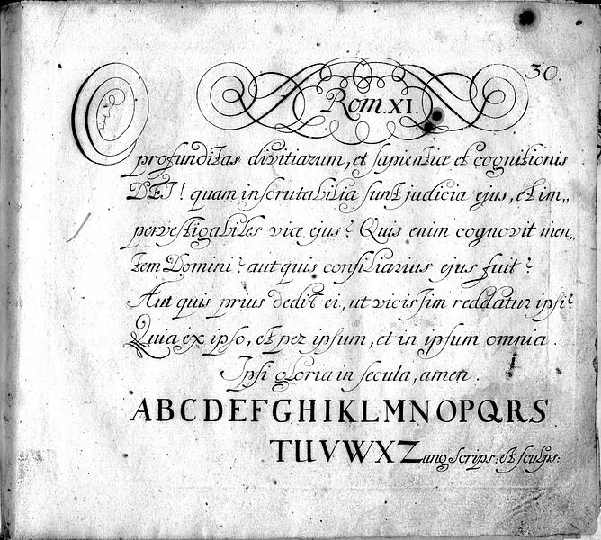 Calligraphia S. 30