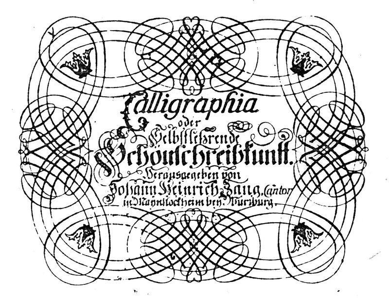 Tielblatt der Calligraphia