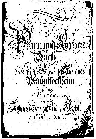 Kirchenbuch Mainstockheim von 1768