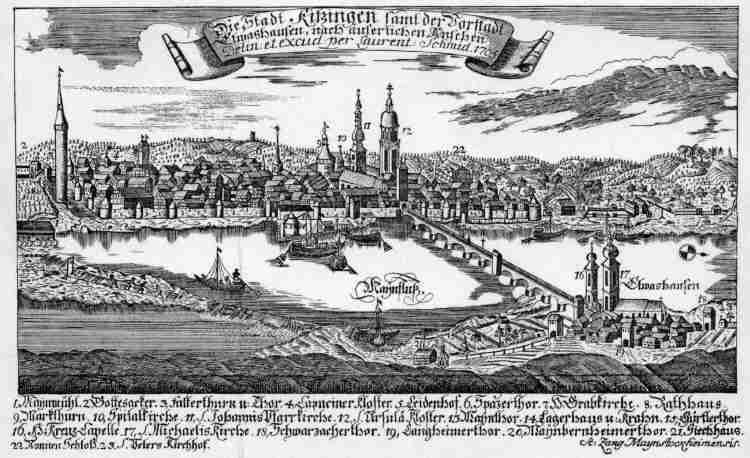 Kupferstich umgearbeitet von Zang, 1705