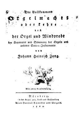 Titelblatt Orgelmacherbuch