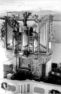 Die Orgel der St. Jakobskirche Mainstockheim; Foto: L. Ruf